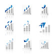 Graph Icons Set - Isolated On White Background