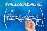 Hand zeichnet chemische Strukturformel von Hyaluronsäure poster