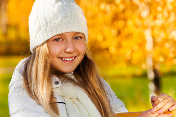 Outdoor portrait of teen girl