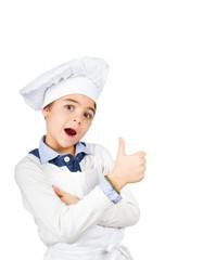 Giovane chef meravigliato
