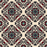 Seamless ethnic pattern gift wrap vector
