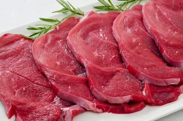 raw beef fillets