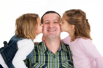 Küsschen für Papa