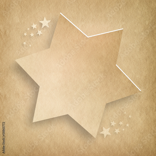 Christmas background - shapes of stars