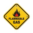 yellow sign - flammable gas