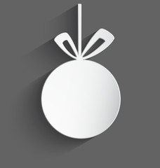 White 3d Christmas ball