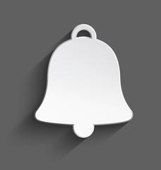 White 3d Christmas bell