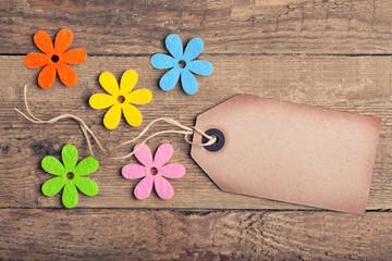 Gutschein: Anhänger mit Blüten