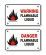 rectangle signs - warning and danger flammable liquid