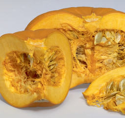 opened orange pumpkin