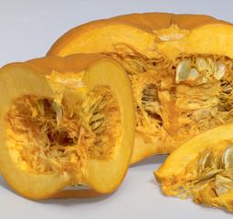 opened orange pumpkin
