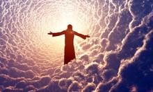 Jezus w chmurach.