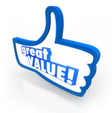 Great Value Blue Thumbs Up Symbol Review Recommendation