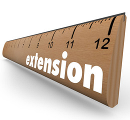 Extension Ruler Measure More Length Added Time