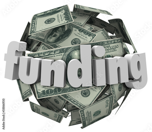 Funding Word Money 100 Dollar Bill Currency Ball