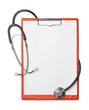 Clipboard and stethoscope