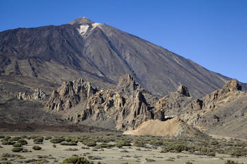Rocks near Mount Teide, Tenerife, Canarian Islands.