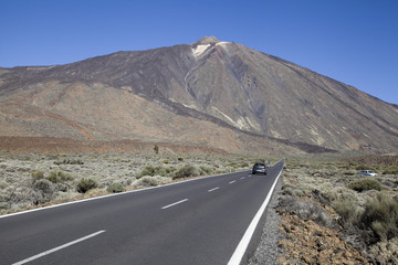 Road to Mount Teide, Tenerife, Canarian Islands.