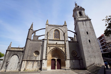 The church of Santa Maria in city Lekeitio, Spain