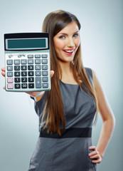Accountant business woman portrait.