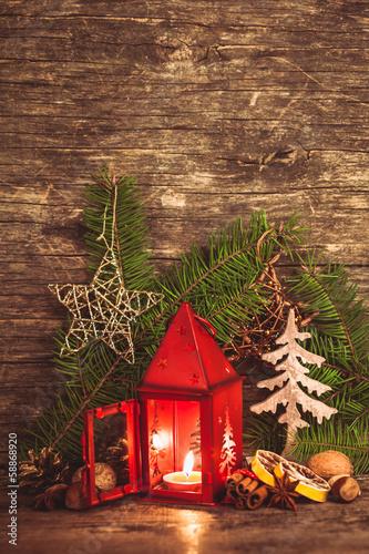 Leinwandbild Motiv Christmas candlestick