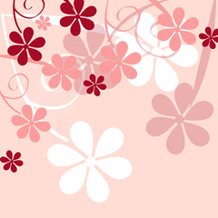 romantic flower background vector illustration