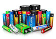 Collection of different batteries - 58870390