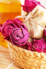 soap with roses