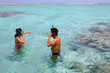 Snorkeling in Aitutaki Lagoon Cook Islands