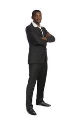 Afrikanischer Geschäftsmann / Student Portrait stehend