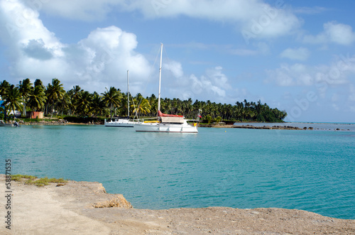 Port of Aitutaki in Aitutaki Lagoon Cook Islands