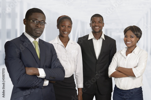 canvas print picture Afrikanisches Business Team