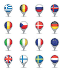 european flag pointers