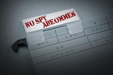 Ordner mit No Spy Abkommen
