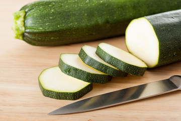 Slices of zucchini