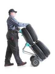 Car tire serviceman