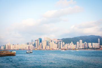 Небоскребы Гонг Конга на закате