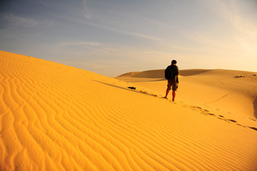 The Man in the Deserts of Morroco
