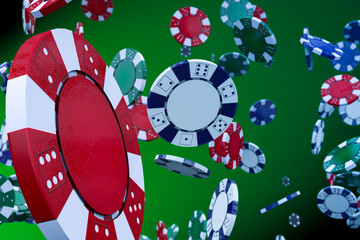 Flying Casino Chips
