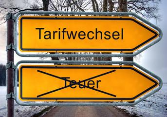 Strassenschild 5 - Tarifwechsel