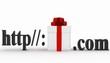 Concept of visiting e-business website. 3d illustration