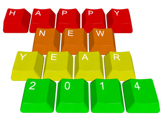PC keys Happy new year 2014