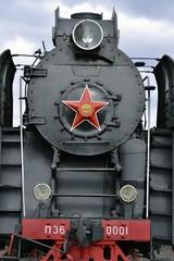 красная звезда на паровозе