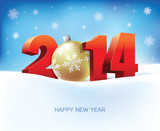 vector illustration of new year 2014