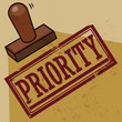 Stamp Priority, vector illustration
