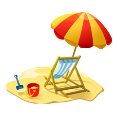 Beach icon isolated. vector illustration