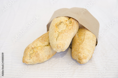 Freshly baked traditional bread rolls.