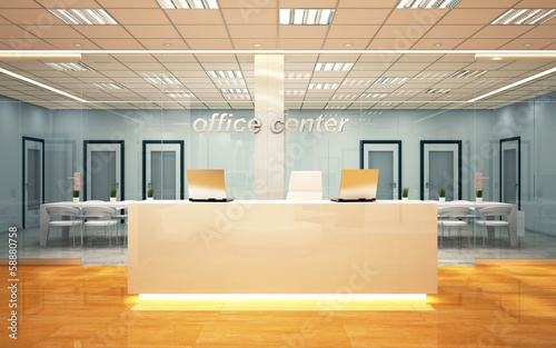European modern office center