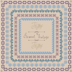 pattern vintage square frame