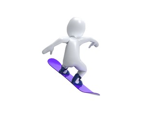 Winter Olimpic games. Snowboard. 3d man with snowbord